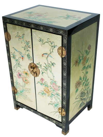 Lacquer furniture chinese lacquer furniture chinese for Hand painted oriental furniture
