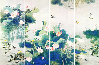 chinese mural painting painted wallpaper chinoiserie wallpaper 10163