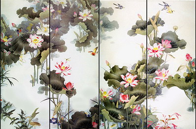 Hand Painted Wallpaper Chinoiserie Wallpaper Chinese